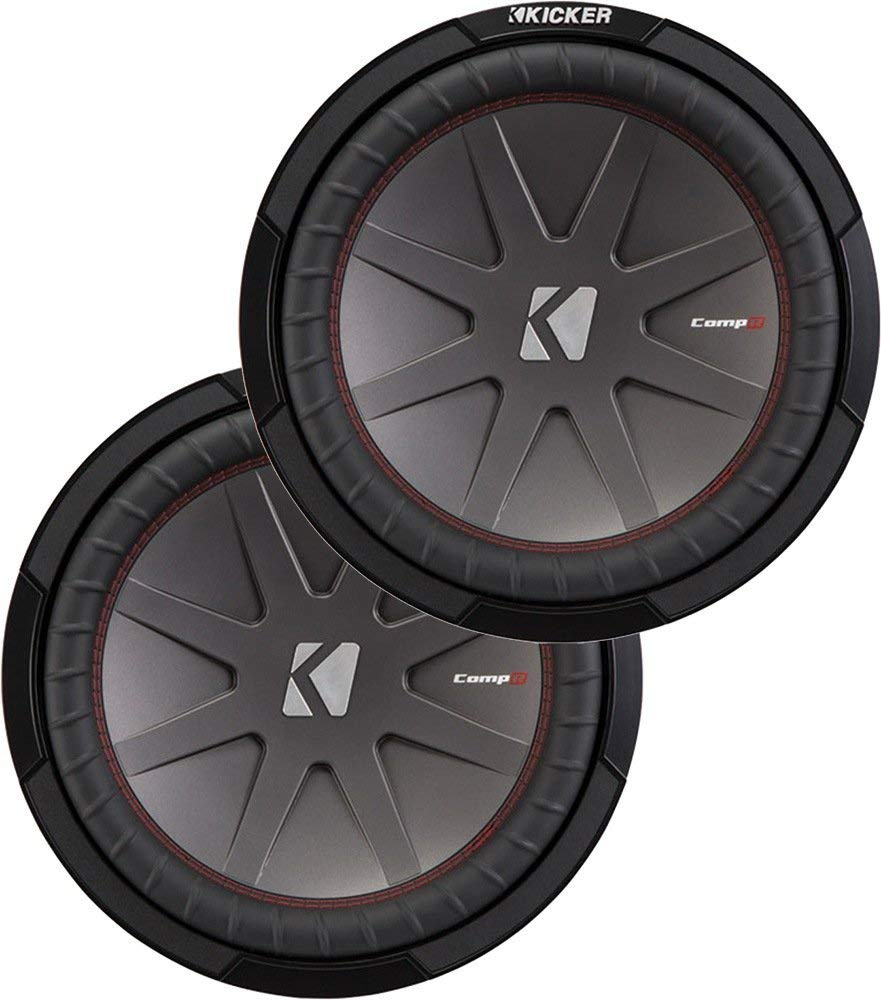 """Kicker Bundle of 2 Items: Two 43CWR124 12"""" CompR Series Car Subwoofers"""
