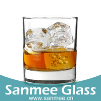Bar Use Durable Glass Cup Round Bottom Promotional Glassware
