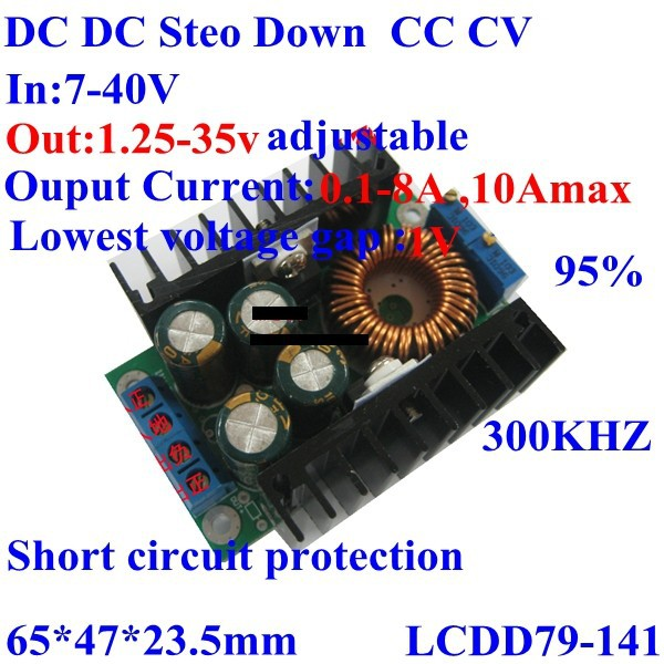 High power CC CV buck converter led/solar panel/wind energy battery charging power supply module 7-40v to 1.25-35v 0.3-8A 10Amax