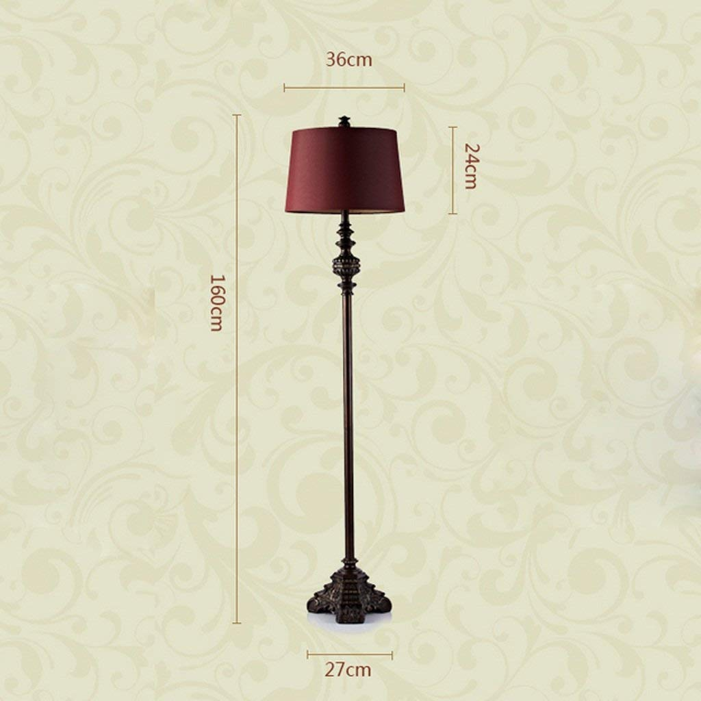 SED Floor Lamp-Led Creative Floor Lamp Retro Classical Bedroom Living Room Wedding Vertical Floor Lamp European Style Floor Lamp Eye Protection Vertical Table Lamp