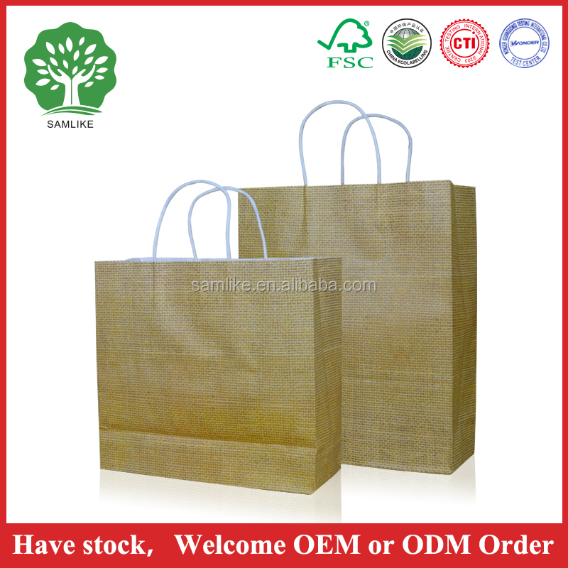 High quality Recyled full color shopping package customized retail kraft paper bag and Chinese fashionable