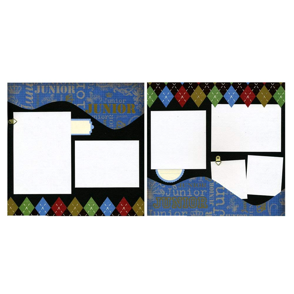 Junior - Two Coordinating 12x12 Premade Scrapbook Pages