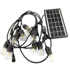 Waterproof Outdoor String Lights Patio lights Solar Power String Light with LED Filament Bulbs