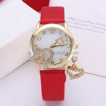 double heart shaped watch gift for sweet girl friend friendship