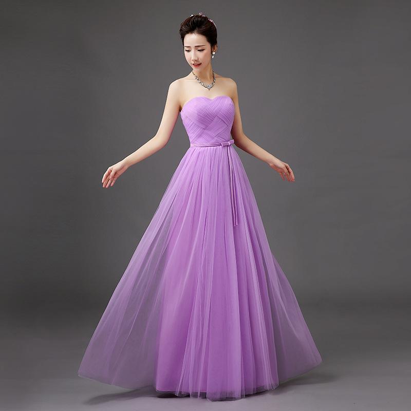 Venta al por mayor vestidos damas de honor en morado-Compre online ...