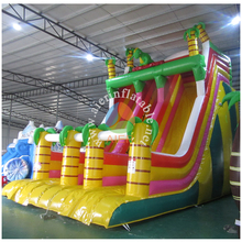 Guangzhou 0.55mm pvc tarpaulin slide/bloody Dragons inflatable slide for party