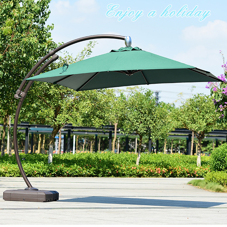 Leisure Ways Rotating Beach Umbrella, Portable Bali Big Patio Umbrella