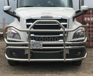 304 Stainless Steel Semi American Truck Body Spare Parts New Design Truck  Deer Guard For New Freightliner Cascadia Truck Guard