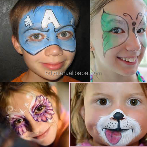 Eco friendly water based neon uv halloween face body paint for Eco friendly colours for painting