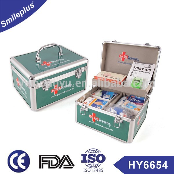 emergency aluminium first aid box, first aid kit box