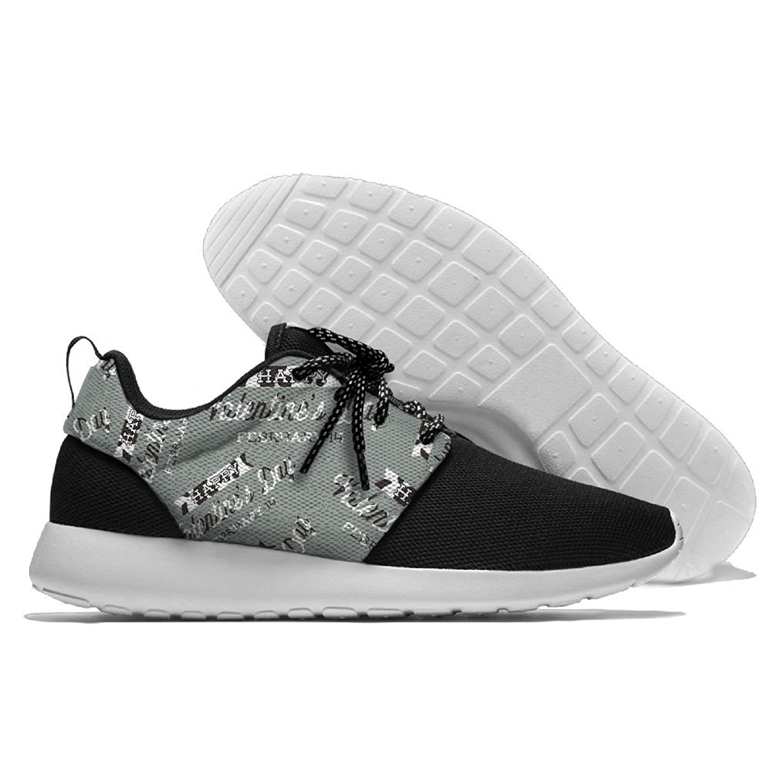 Happy Valentine's Day Milk Mens Print Casual Sport Shoes Fashion Breathable Sneakers Running Shoes