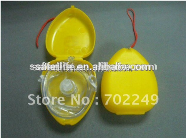 CE FDA Approved CPR mask for personal deluxe oral mask CPR for rescue plastic rescue CPR kit with plastic case