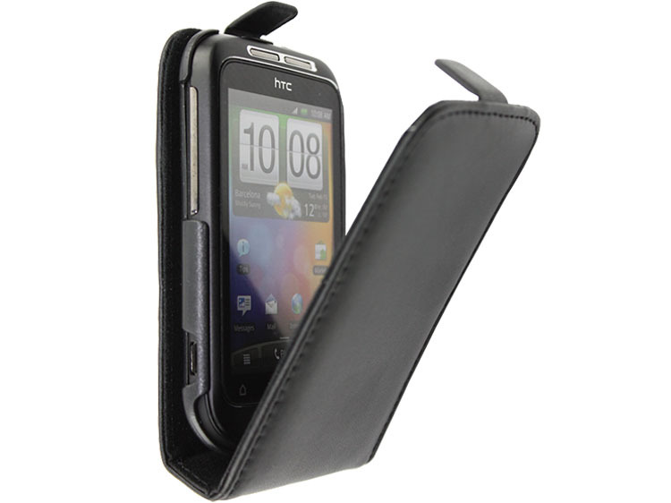 Free shipping Fashion High quality flip100% Real Doormoon leather cove case for HTC G13 Wildfire S A510E A510C