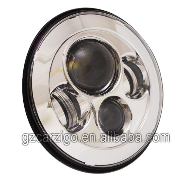 chinese fair show IP68 4*4 7 inch round head light for jeep jk motorbike