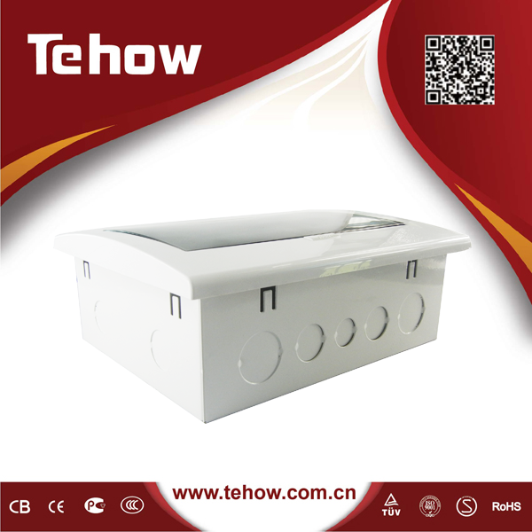3 phase power 8 way electrical power distribution box and metal MCB switch box