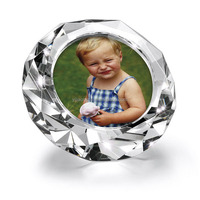 personalized fashionable sounveir gifts round picture frame glass