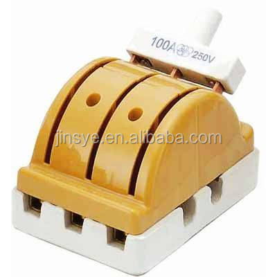 porcelain double knife blade switch