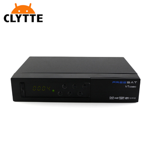 V7 Combo 4k satellite receiver with sim card dvb-t2 dvb-s2 with PowerVu  Biss Key Ccam Newam Wifi set top box
