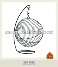 Ball shaped hanging metal fruit basket