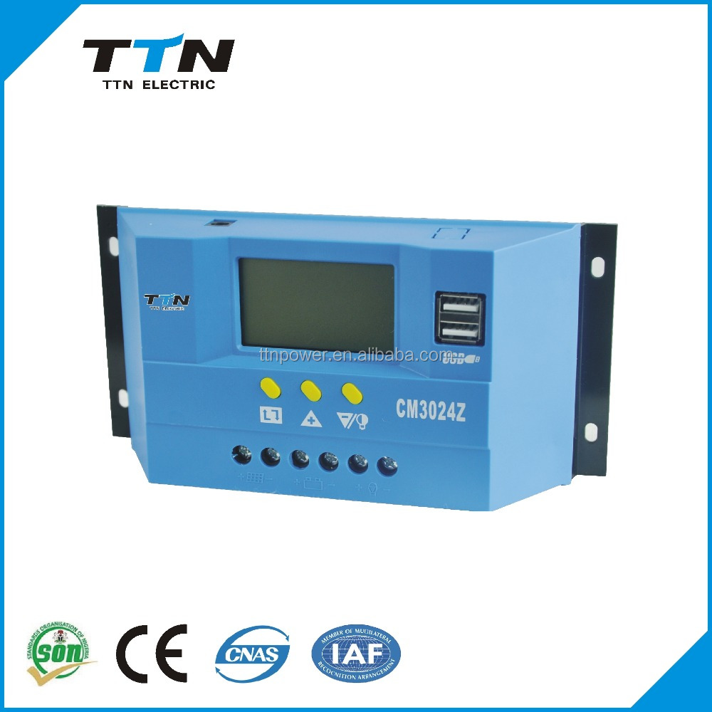 2015 TTN Future Tech CM3024 Intelligent PWM Solar <strong>Charge</strong> <strong>Controller</strong>