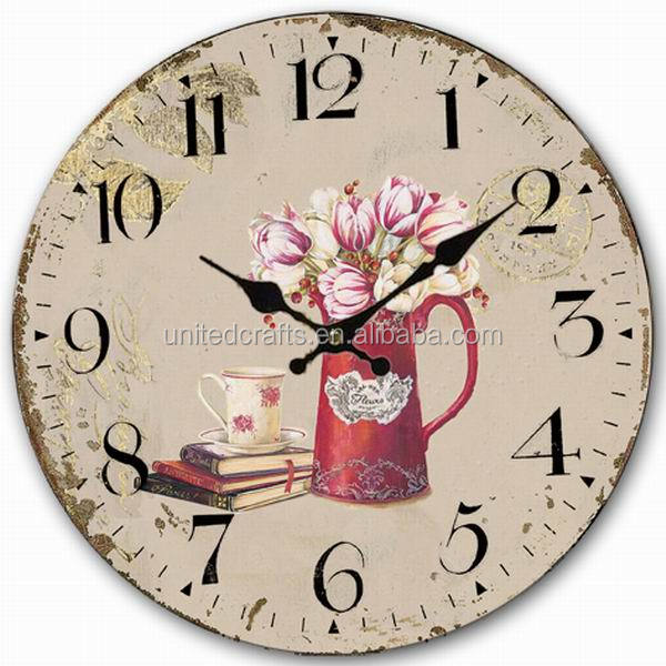 2014 Newest High Quality MDF Wall Clock Theme Wholesale