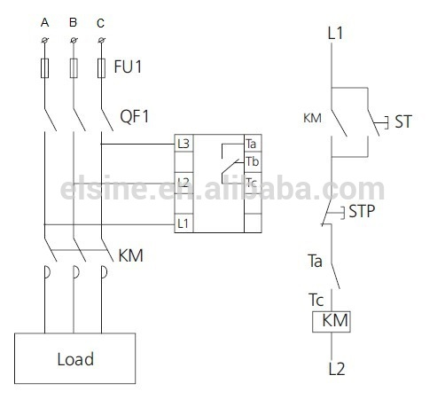 Wiring Diagram Under Voltage Relay : Xj d phase failure and sequence protective relay