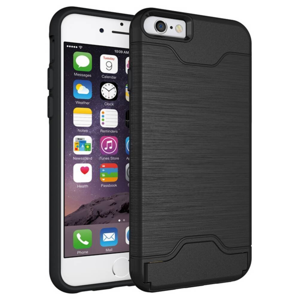 iPhone 6 Case, iPhone 6s Case, SAVYOU Heavy Duty Slim Protection Flip Card Holder Premium Shock Proof Wallet Cases Cover for iPhone 6 /6S 4.7 inch Black