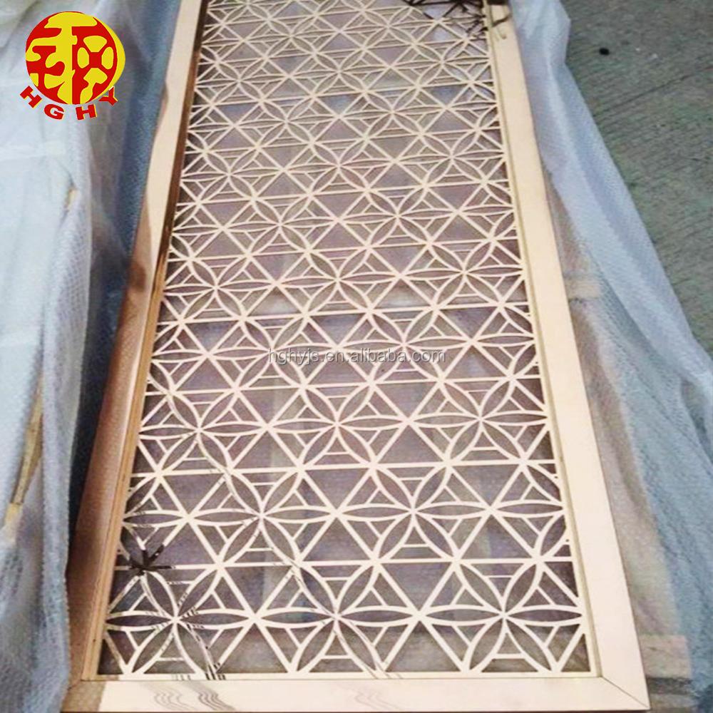Custom Made Laser Cut Patterns Stainless Steel Decorative Metal