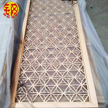 Custom made laser cut patterns stainless steel decorative metal outdoor suspended ceiling panels design