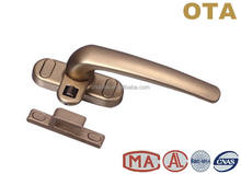Single point square window lever metal handle lockable, thandle lock, aluminium window handle