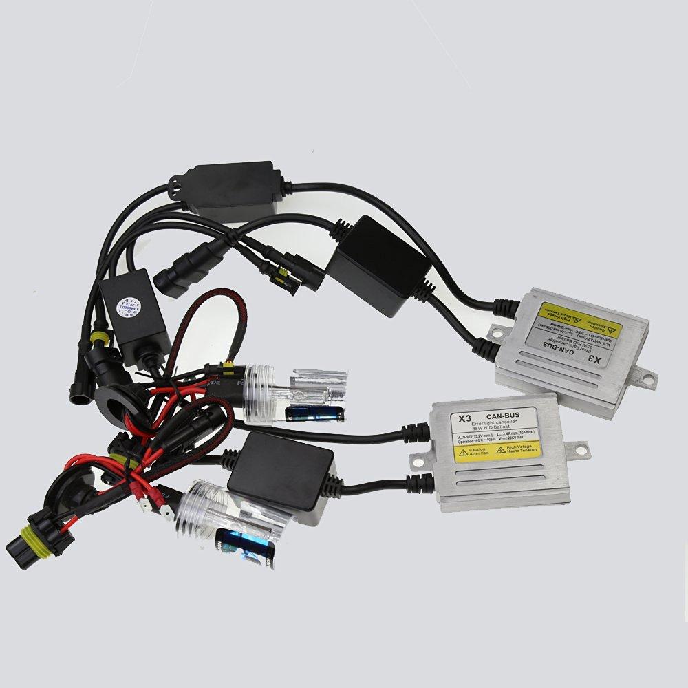 12V/35W X3 Canbus HID Conversion Xenon Kit 880/881 Xenon Bulb Car HID Headlight with Slim AC Ballast For Vehicle