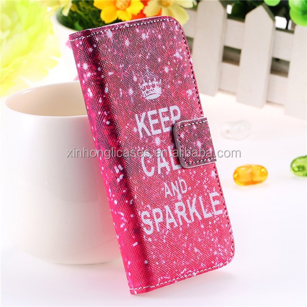 Customed Pattern Cute Matte Case for iphone 5 5S 5G Wallet Stand Flip Leather, OEM Flip Case For Mobile Phones