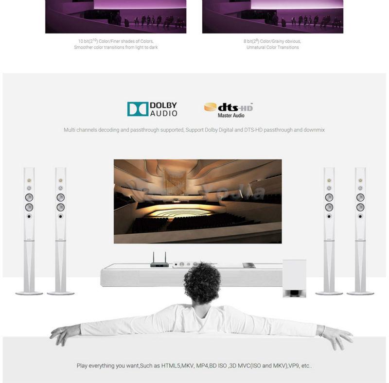 เดิมZIDOO X9sทีวีกล่องAndroid 6 0 + OpenWRT (NAS) Realtek RTD1295 2