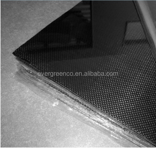 Glossy plain / twill flexible color carbon fiber sheet cfrp with different Thickness