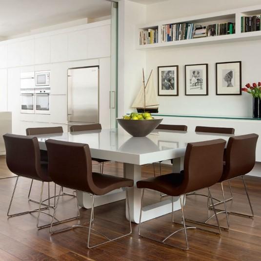 Обслуживание OEM роскошные акриловые твердой поверхности, обеденный стол комплект со стульями