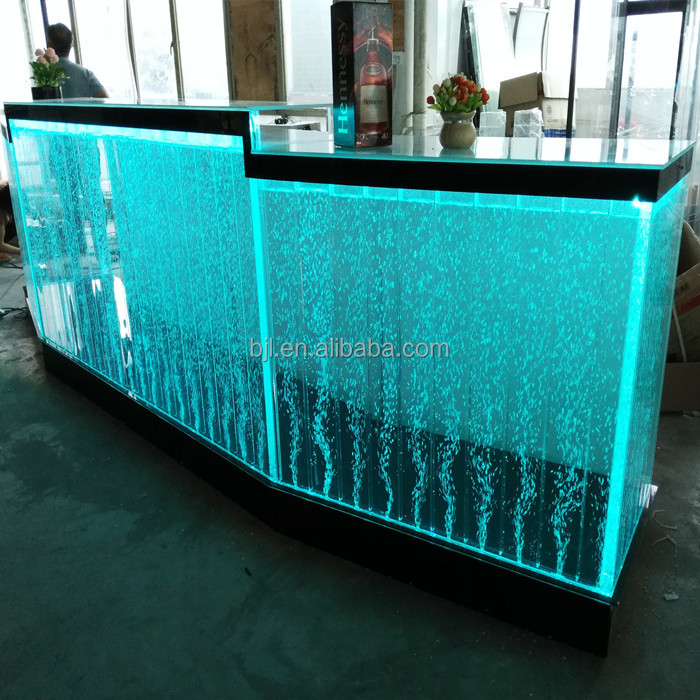 water led acrylic bubble waterfalls custom made design bar counters