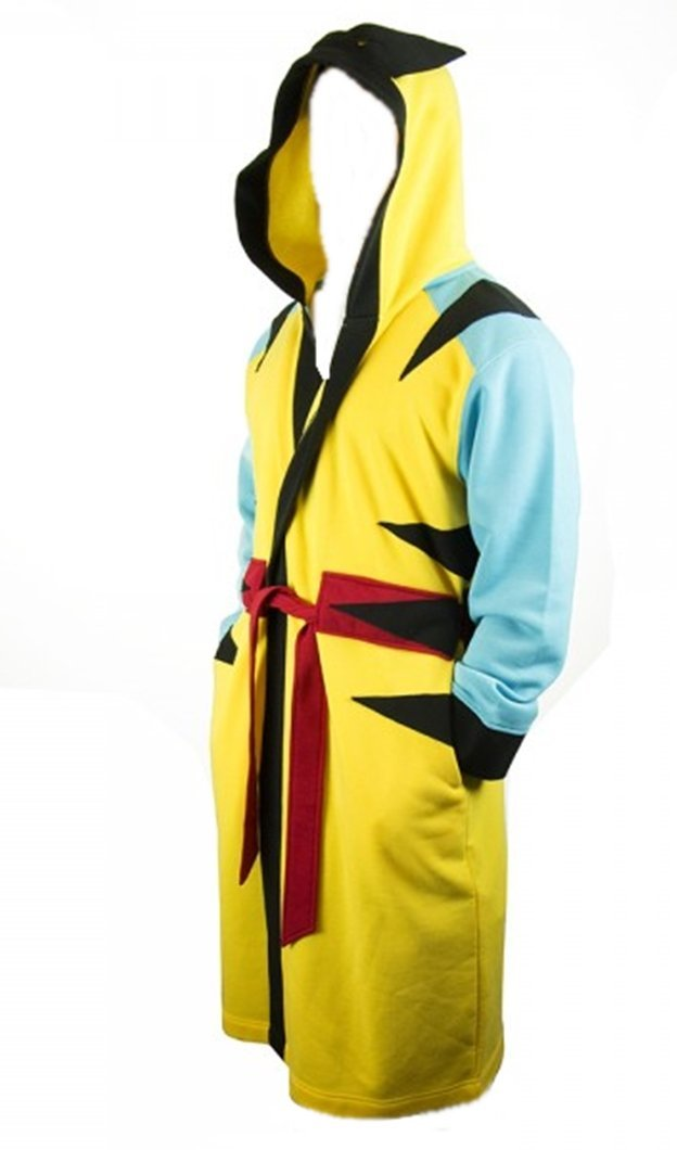 Marvel Comics WOLVERINE Belted Fleece BATHROBE with Hood - Size Large XLarge a8d3e8ab2