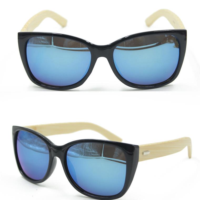 b3e6a9b02a Get Quotations · Cat Eye Bamboo Sunglasses Men Wooden Sunglasses Women  Brand Designer Mirror Original Wood Sun Glasses Oculos