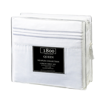 Deep pocket 4 piece 1800 thread count cotton bed sheets