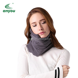 Polar Fleece Soft Neck Chin Support Neck Pillow Scarf Travel Sleeping Pillow