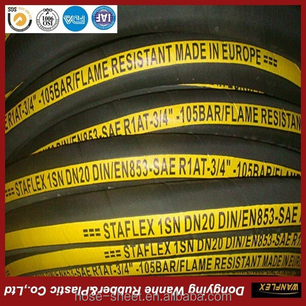 Factory direct flexible high pressure rubber sewer jetting hose