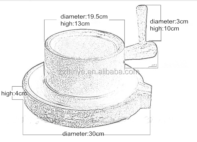 mill stone drawing. widely used small model flour mill stone/ mini stone / grain drawing o