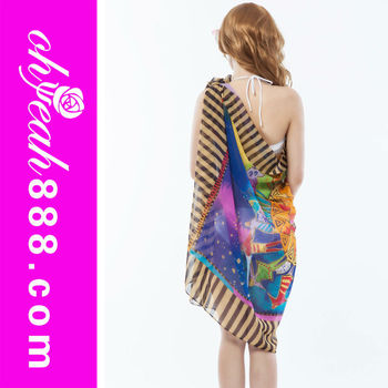 Summer Wrap Around Beach Sarong Cover Up Dress Pareo