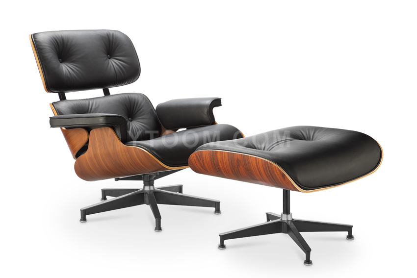 Modern Classic emes Lounge Chair with Ottoman Aniline Leather replica Furniture