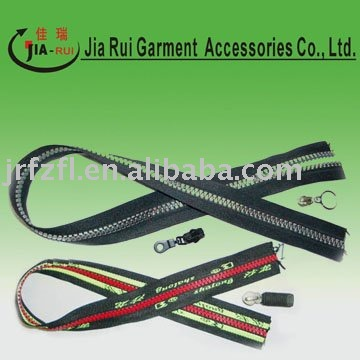 No.3 resin zipper and plasic zipper with multi-color with logo