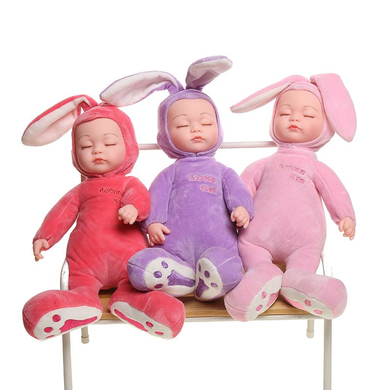 Populaire enfants jouets Mignon petit cochon 14 pouces 3 berceuses musique dessin animé Silicone Mignon Bébé Poupée cadeau