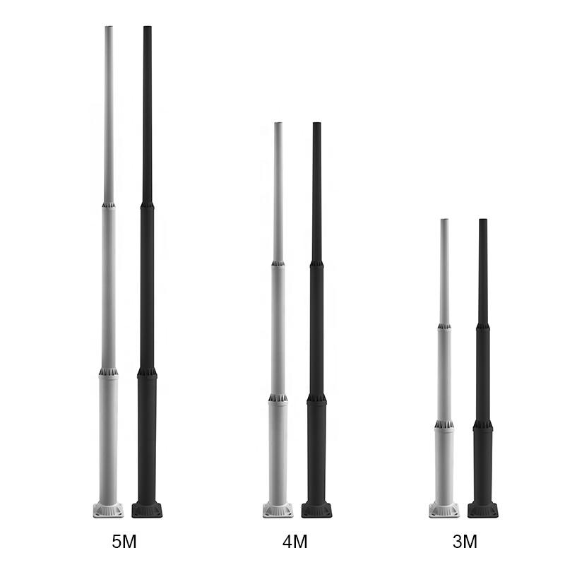 Manufacturers high quality aluminum material extension-type solar street light aluminum pole