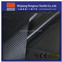 100%polyester 420D black plaid oxford fabric with back PVC coated