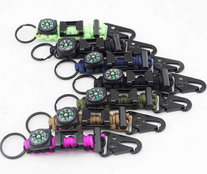 Hot sale manufacturers in china custom 550 survival paracord keychain