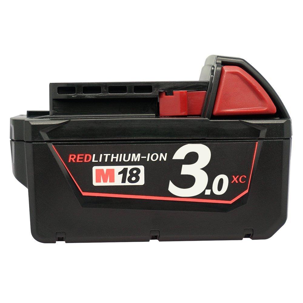18V 3.0Ah M18 XC Red Replacement Li-ion Battery for Milwaukee 48-11-1820 1828 1815 1828 1840 48-11-1811 48-11-1815 48-11-1822 48-11-1828 48-11-1840 4932352071 C18B Li18